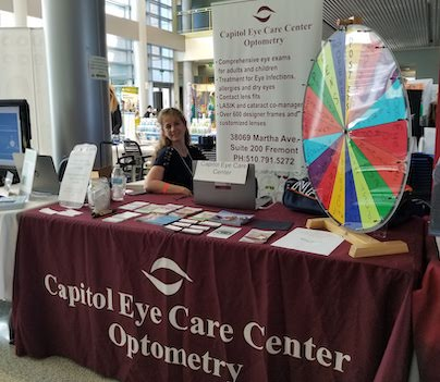 Capitol Eye Care Center booth